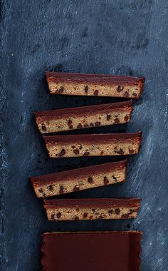 Chocolate Chip Nutella Cheesecake Bar