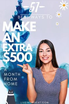 When you need to MAKE AN EXTRA $500 fast sometimes it can be difficult to know what to do. That's why this HUMONGOUS list will help point you in the right direction. Check out the huge variety of MONEY MAKING options available online, so that you can work from the comfort of your own home, figure out the best ways to make an extra $500, or more, and set up a side hustle that could change your life forever ► How To Start A Blog, How To Make Money, How To Become, Extra Cash, Extra Money, Freedom Travel, Social Media Influencer, Know Who You Are, Virtual Assistant