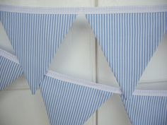 Blue Boy Bunting, Fabric Flags, Banner, Baby, Nursery, Party Decoration, Photo Prop, Boy Baby Shower. $25.00, via Etsy.