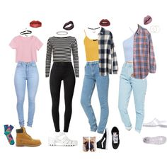90s School Outfits by stellaluna899 on Polyvore featuring Madewell, River Island, Topshop, Miss Selfridge, American Apparel, J Brand, Living Royal, Timberland, Vans and JuJu
