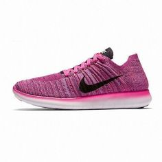 online store cce0a f6b00 Nike Free RN Flyknit Womens Running Shoes 12 Fire Pink Black Peach 831070  601  Nike  RunningCrossTraining