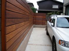 ブロック隠しフェンス Modern Fence Design, Dog Fence, Backyard, Patio, Small Garden Design, Landscape Design, Pergola, New Homes, Exterior