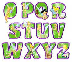 Alfabeto de Campanilla en diferentes poses.