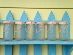 Mason Jar Lanterns  Peach  Frosted  Set of 4 by CrownedWithBeauty, $34.00