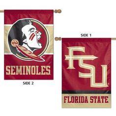 Florida State University House Flag 2 Sided Seminoles Fsu Logos