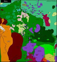 Linguistic map of Bolivia