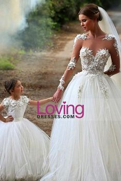 2016 Full Sleeves Wedding Dresses Scoop Tulle With Applique
