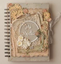 Wedding journal http://www.littlescrapworld.com/2013/01/cuaderno-de-boda-wedding-journal.html