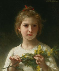 HI RESOLUTION.  William Adolphe Bouguereau [French academic painter, teacher, frescoist & draftsman. 1825 – 1905] Bouguereau was a traditionalist in his realistic genre paintings.  He often used mythological themes, making modern interpretations of Classical subjects. Biography: www.artrenewal.org/pages/artist.php?artistid=7  Oil on canvas Sold at Christie's