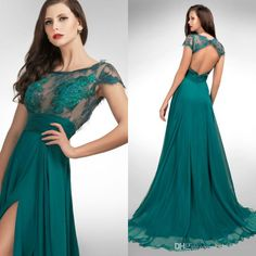 2014 New Arrival Hunter Scoop Cap Sleeves Chapel Prom Dresses | Buy Wholesale On Line Direct from China