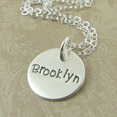 Custom Name Pendant Necklace Custom Hand by prolifiquejewelry, $30.00