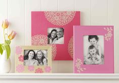 Frame your favorite memories with mom, and add a personal touch using craft paint. #marthastewartcrafts #mothersday