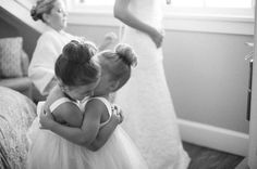 adorable sock buns on the flower girls