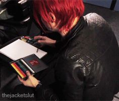 he does the same exact thing i do before drawing!!