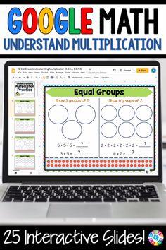 """LOVE THE VARIETY OF THESE SLIDES!"" With this 3rd Grade Understanding Multiplication {3.OA.1, 3.OA.3} resource for Google Slides, your students will practice using equal groups, number lines, and arrays to understand the concept of multiplication. They will also learn the Commutative Property of Multiplication."