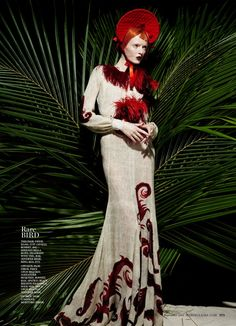 """Daria Strokous is """"Idyll Wild"""" for Marie Claire US September 2015 by François Nars [editorial]"""