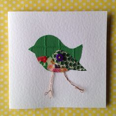 Your place to buy and sell all things handmade Friendship Cards, Bird Cards, Get Well Soon, Bird Design, Applique Designs, Hand Stitching, Thank You Cards, Little Ones, Birthday Cards