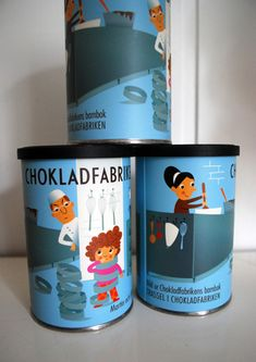 I´ve made a small can for Chokladbfabriken in Japan. The illustration is from the book I did for Chokladfabriken in Sweden a couple of years ago. [sic]
