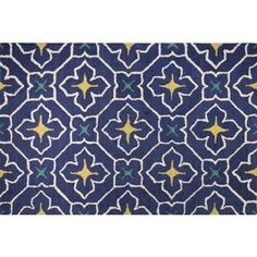 Check out this item at One Kings Lane! Shaw Rug, Navy