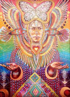 UNE DÉESSE TRIBALE ET GARDIENNE DES OISEAUX...! Art par Isabel Bryna de MariposaGalactica