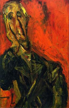 chaïm soutine(1894-1943), man in a green coat, c.1921. oil on canvas, 87.6 x 54.6 cm. private collection http://www.the-athenaeum.org/art/detail.php?ID=56632