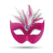 free clip art pink masked ball stock illustrations more masks free ...