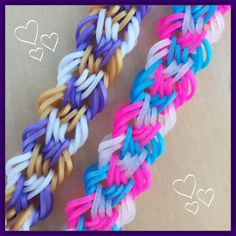 Restless Tides Bracelet - hook only Rainbow Loom Bracelets Easy, Loom Band Bracelets, Rainbow Loom Tutorials, Rainbow Loom Patterns, Rainbow Loom Creations, Rainbow Loom Bands, Rainbow Loom Charms, Rubber Band Crafts, Rubber Bands