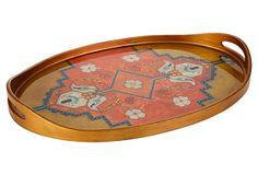 """Robert M. Weiss's 24"""" Oval Tray, Ankara on OneKingsLane.com"""