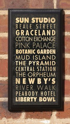 City of Memphis Points of Interest Subway Scroll by CrestField, $27.00