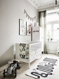 Entrance The post You'll want move right in this dreamy Scandi home appeared first on Daily Dream Decor. Baby Boy Rooms, Baby Bedroom, Baby Boy Nurseries, Baby Room Decor, Kids Bedroom, Nursery Decor, Nursery Rugs, Nursery Ideas, Scandinavian Style