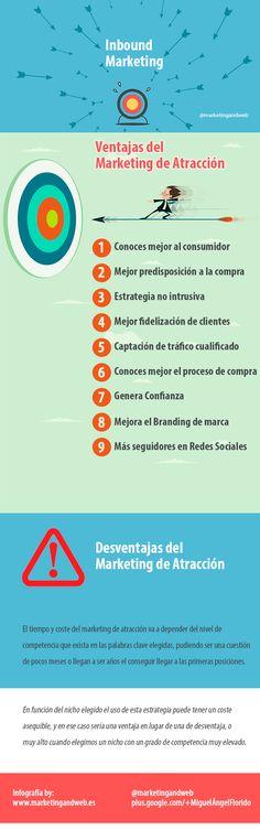 #Infografia #MarketingdeAtracción Ventajas y Desventajas del inbound marketing. #TAVnews