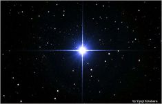 Glorious Sirius looks like one bright star but is actually a binary system composed of 2 stars (Sirius A, the brighter & Sirius B, a faint white dwarf). Together, they glitter like a silver-blue diamond! Binary stars are too close to be distinguished from one another when observed from Earth and are hence mistaken for one. The two stars of a binary typically orbit about a common center of mass. Sirius is easy to see in the spring and winter skies.