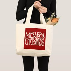 Shop Merry Christmas White Bag created by floatinglemons. Christmas Text, Merry Christmas, Text Design, Design Your Own, Cotton Canvas, How To Draw Hands, Tote Bag, Casual, Bags