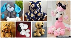 DIY Crochet Amigurumi Puppy Dog Stuffed Toy Free Patterns: Crochet Dog-Themed Animal Toys for Dog Lovers