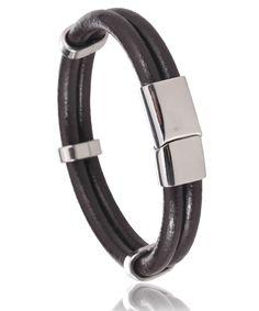 Bracelet cuir marron Cuneo