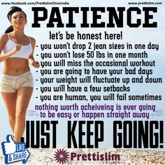 #Patience, Just Keep Going with Prettislim Clinic