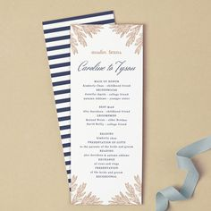 Printable Wedding Program Template Instant DOWNLOAD Vintage - 5x7 wedding program template