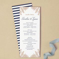 Printable Wedding Program Template Instant DOWNLOAD Vintage - 5x7 wedding program template