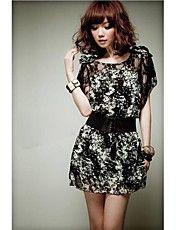女性のシルクの花のドレス – JPY ¥ 1,775