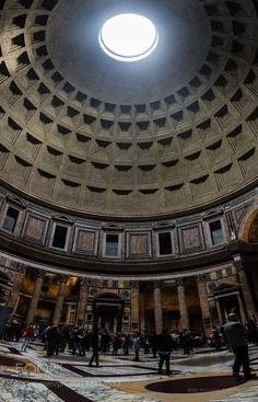 Inside Pantheon by bampgs  panorama pano panoramic pantheon travel photography Italy Rome Italia Roma bampgs