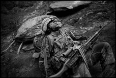 A US #Soldier from Battle Company, 2nd Battalion 503rd Parachute Infantry Regiment (Airborne) collapses in exhaustion during #Operation #Rock #Avalanche on 25 October #2007 in the #Korengal #Valley, East #Afghanistan. #Politics #Wars #Terrorism #Terrorists #History #Military