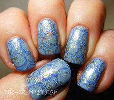 40 Great Nail Art Ideas - Pale Blue base