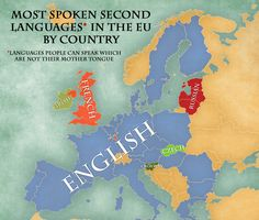 The five most widely spoken foreign languages remain English (38%), French (12%), German (11%), Spanish (7%) and Russian (5%). Almost everyone in Luxembourg (98%), Latvia (95%), the Netherlands (94%), Malta (93%), Slovenia and Lithuania (92% each), and Sweden (91%) are able to speak at least one language in addition to their mother tongue.