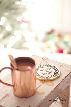 chocolate, christmas, and cup, merry and bright
