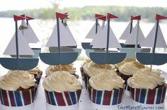Sailboat Cupcakes - Free Printable | Two More Minutes