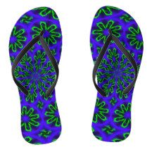 Adult Slim Straps with Green and Blue Design Flip Flops Blue Design, Flip Flops, Slim, Sandals, Abstract, Green, How To Make, Gifts, Shopping