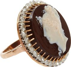 Olivia Collings Antique Jewelry Diamond Cameo Ring on shopstyle.com