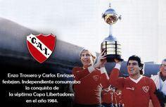 1984 Club Atlético Independiente de Avellaneda Campeón de la Copa Libertadores de America 1984, National League, Messi, Rey, Competition, Football, America, Breakfast Nook, Devil