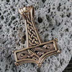 Thor's Hammer Dragon Mjolnir Pendant