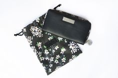 Large leather zip around purse with RFID protection. With a soft grained black leather finish and finished with BettyJo's signature zips and hardware, this purse is beautiful and practical at the same time!